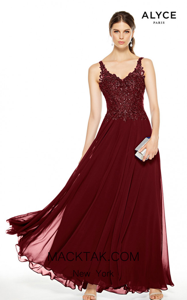Alyce Paris 27395 Wine Front Dress