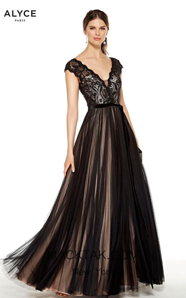 Alyce Paris 27398 Black Rose Water Front Dress