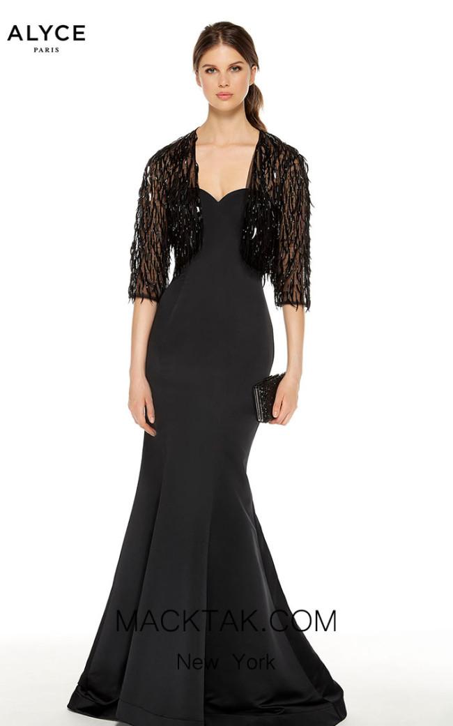 Alyce Paris 27401 Black Front Dress