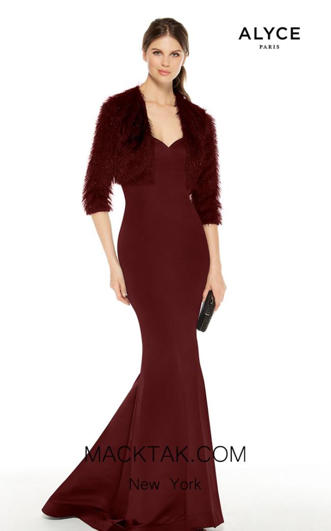 Alyce Paris 27402 Wine Front Dress