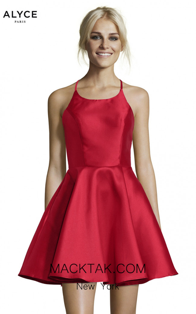 Alyce Paris 3703 Red Front Dress