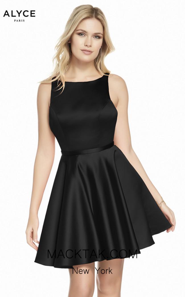 Alyce Paris 3872 Black Front Dress
