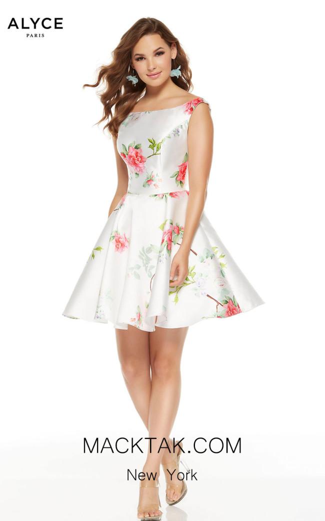 Alyce Paris 3921 Diamond White Front Dress
