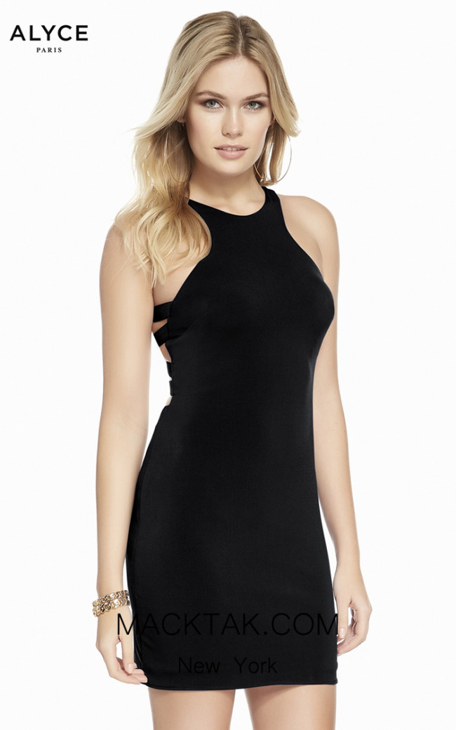 Alyce Paris 4092 Black Front Dress