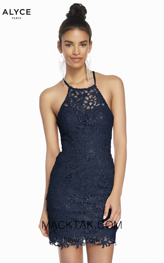 Alyce Paris 4140 Midnight Front Dress