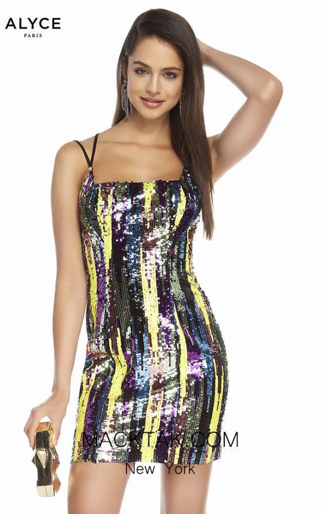 Alyce Paris 4198 Multi Front Dress