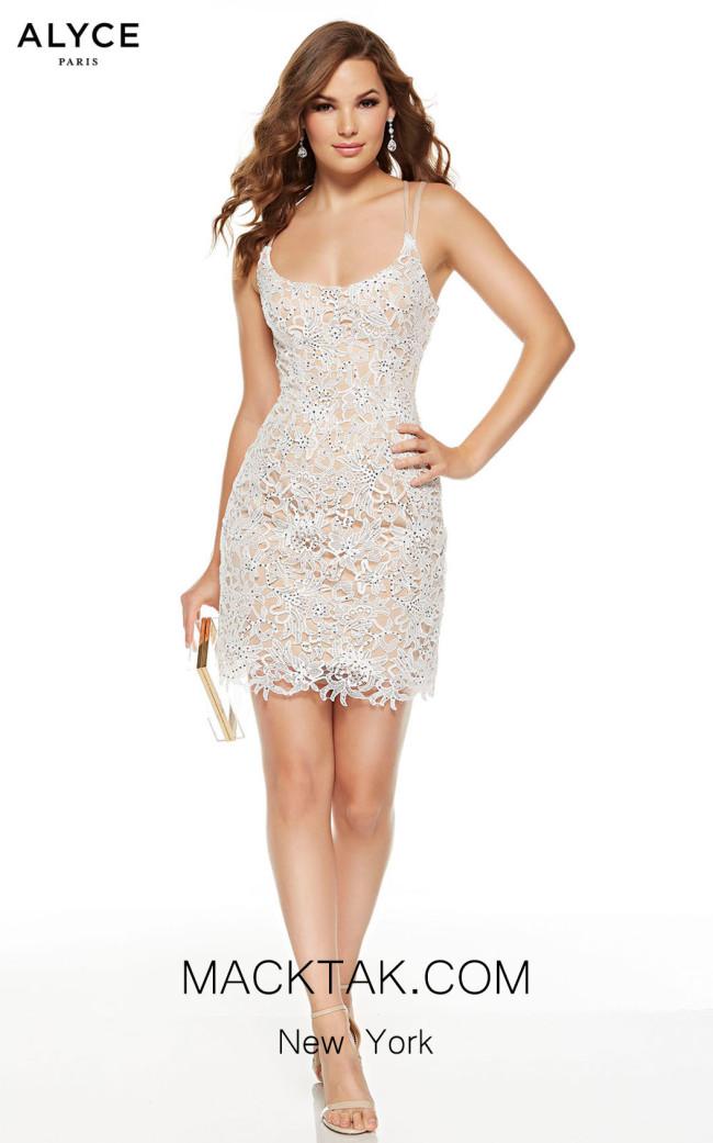 Alyce Paris 4225 Diamond White Malibu Front Dress
