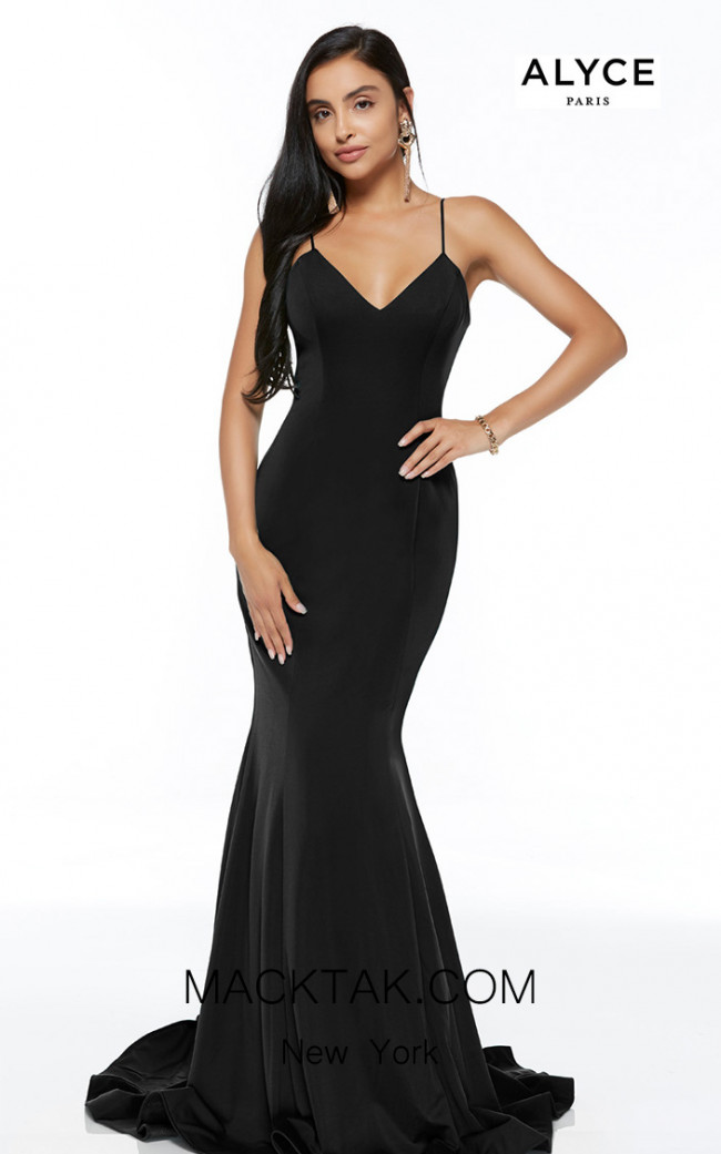 Alyce Paris 60293 Black Front Dress