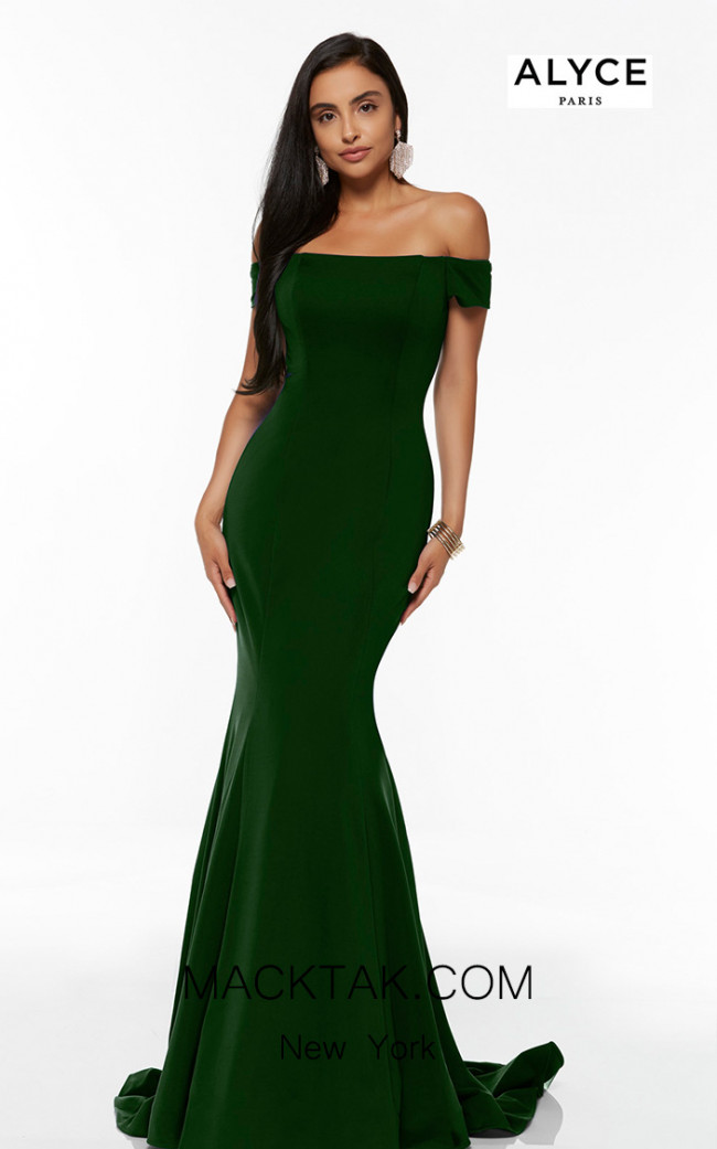 Alyce Paris 60294 Forest Green Front Dress