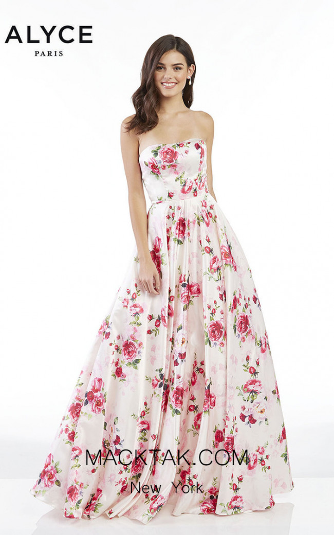 Alyce Paris 60431 Fuchsia Front Dress