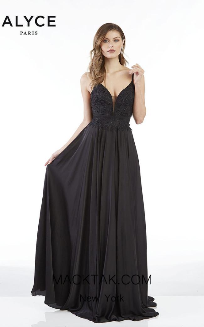 Alyce Paris 60462 Black Front Dress