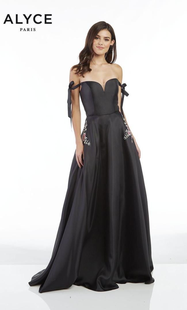 Alyce Paris 60499 Black Front Dress