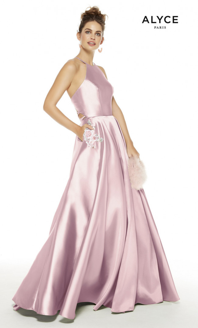 Alyce Paris 60500 Pinkalabaster Front Dress