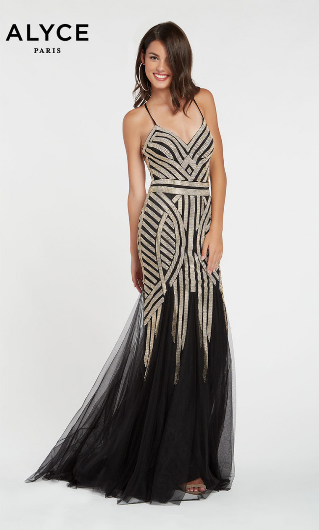 Alyce Paris 60520 Black Front Dress