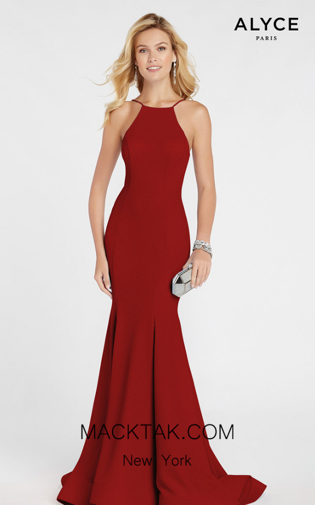 Alyce Paris 60551 Wine Front Dress