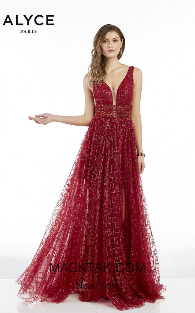 Alyce Paris 60562 Wine Front Dress