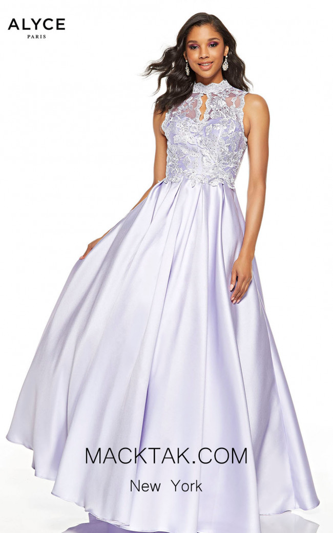 Alyce Paris 60616 Ice Lilac Front Dress