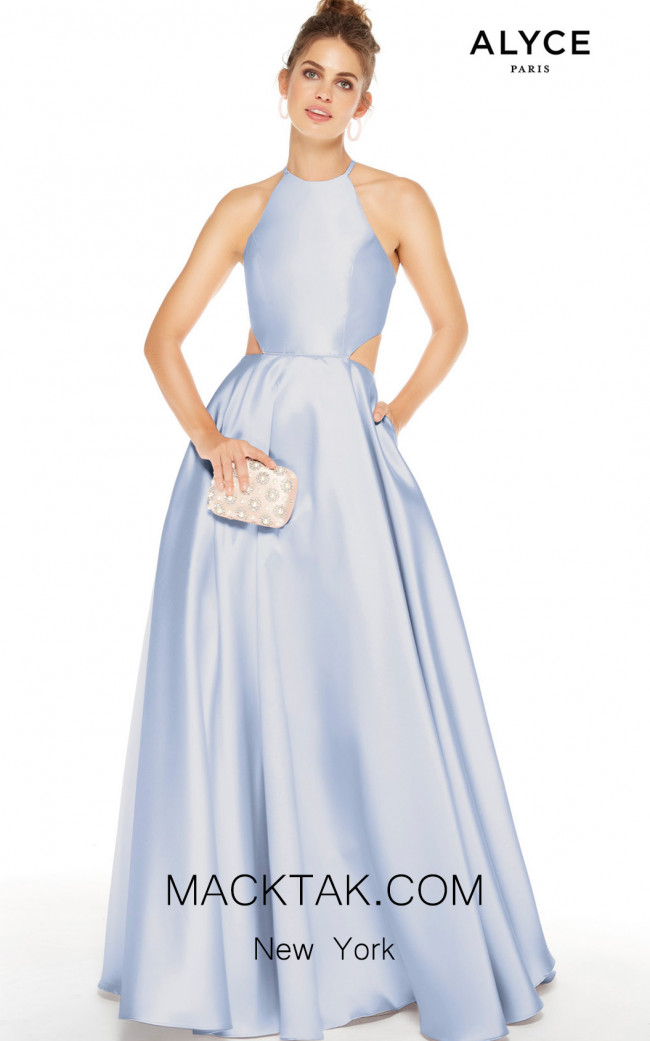Alyce Paris 60621 French Blue Front Dress