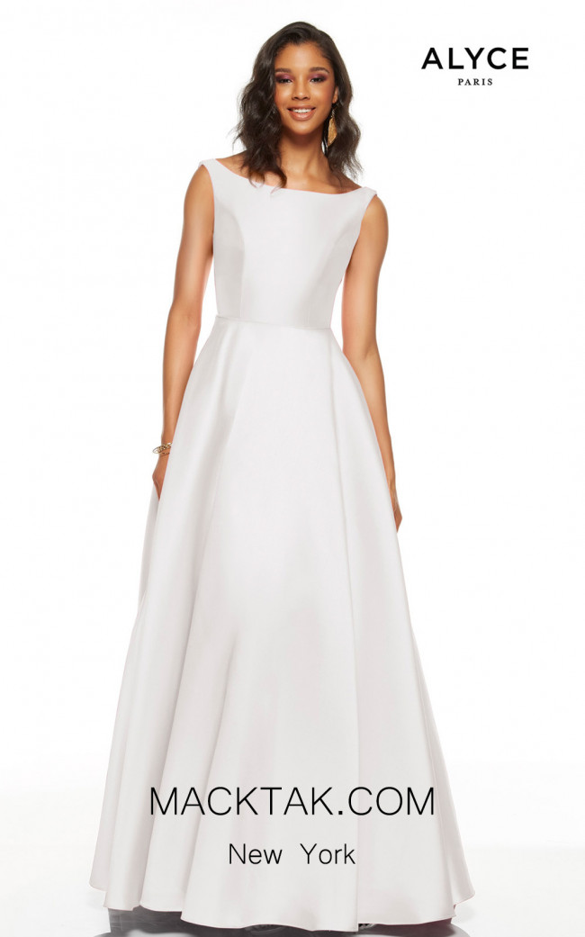 Alyce Paris 60622 Diamond White Front Dress