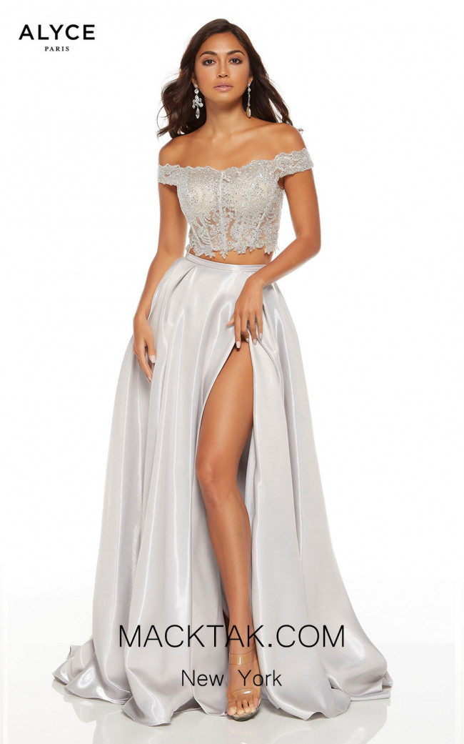Alyce Paris 60628 Silver Front Dress
