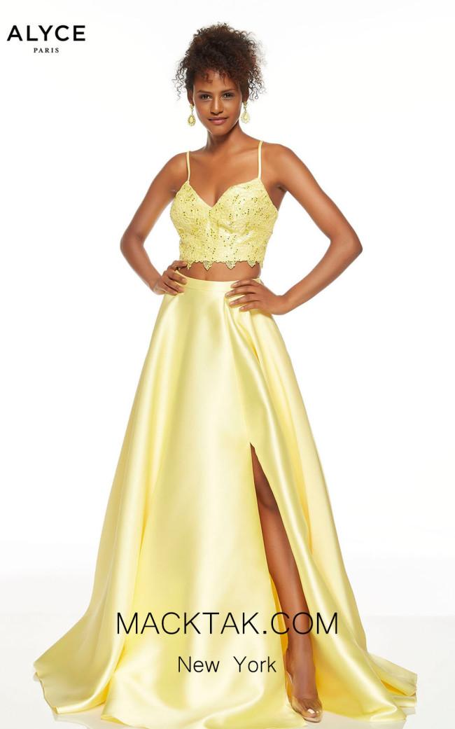 Alyce Paris 60630 Lemon Drop Front Dress