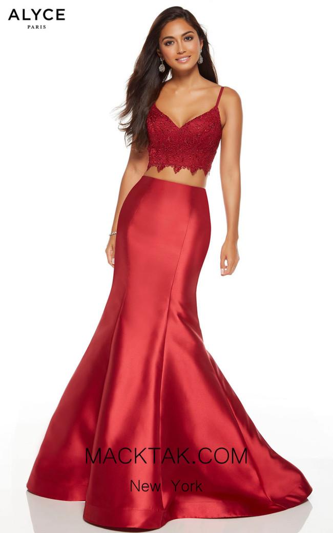 Alyce Paris 60633 Wine Front Dress