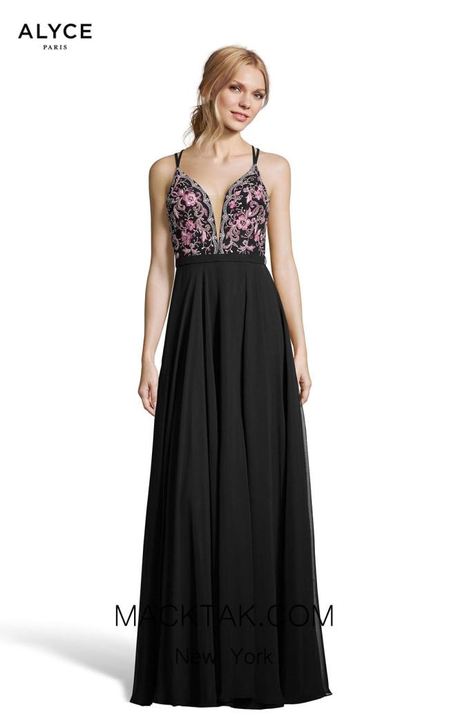 Alyce Paris 60636 Black Pink Front Dress