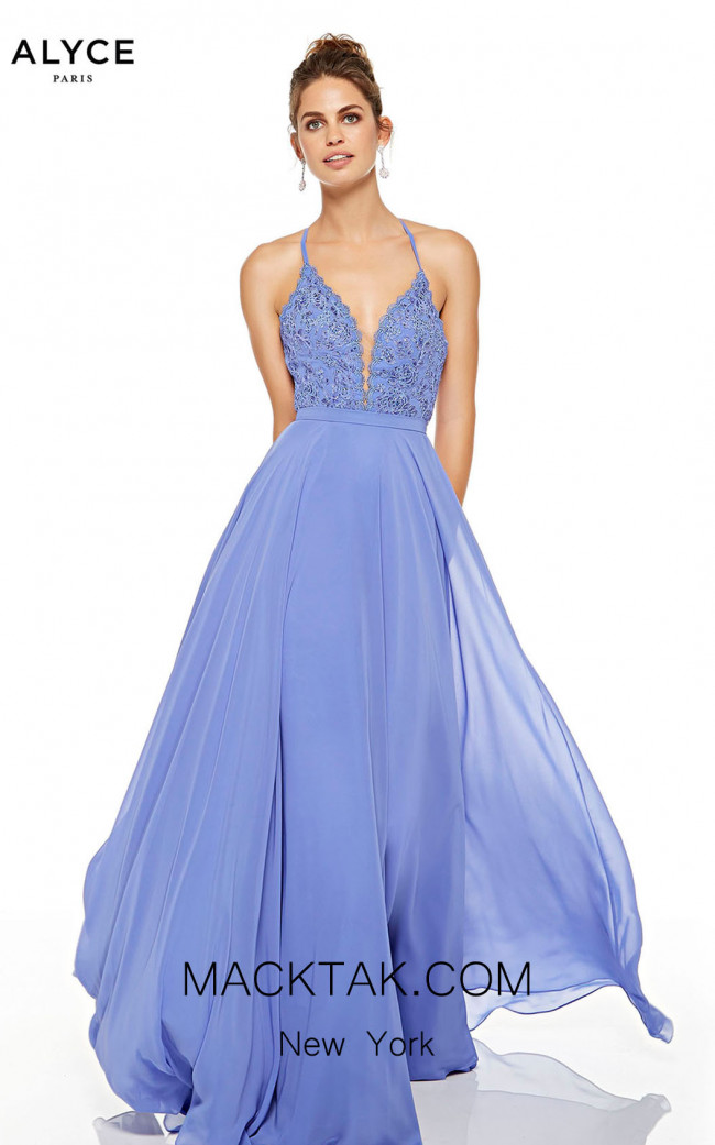 Alyce Paris 60637 Blue Iris Front Dress