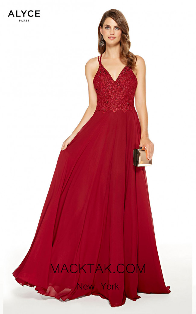 Alyce Paris 60639 Wine Front Dress