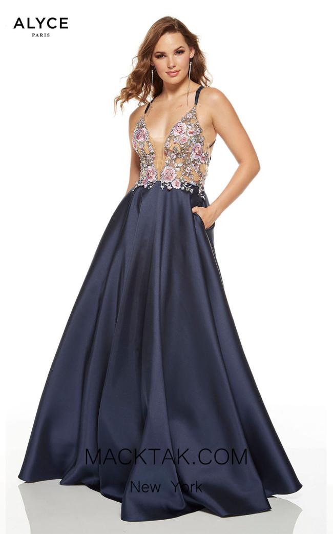 Alyce Paris 60643 Midnight Front Dress