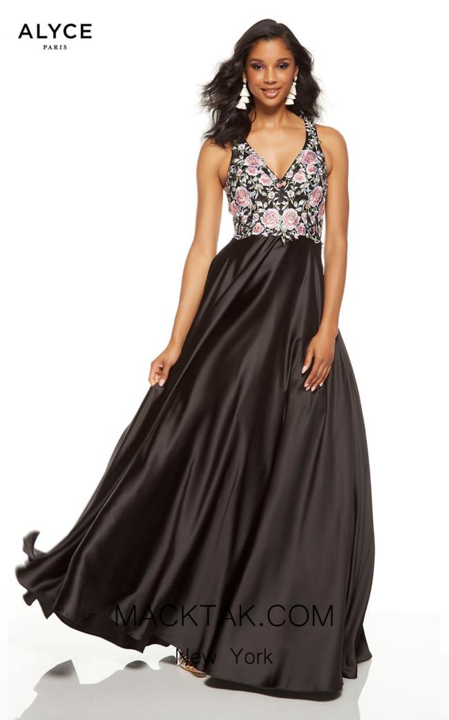 Alyce Paris 60645 Black Front Dress