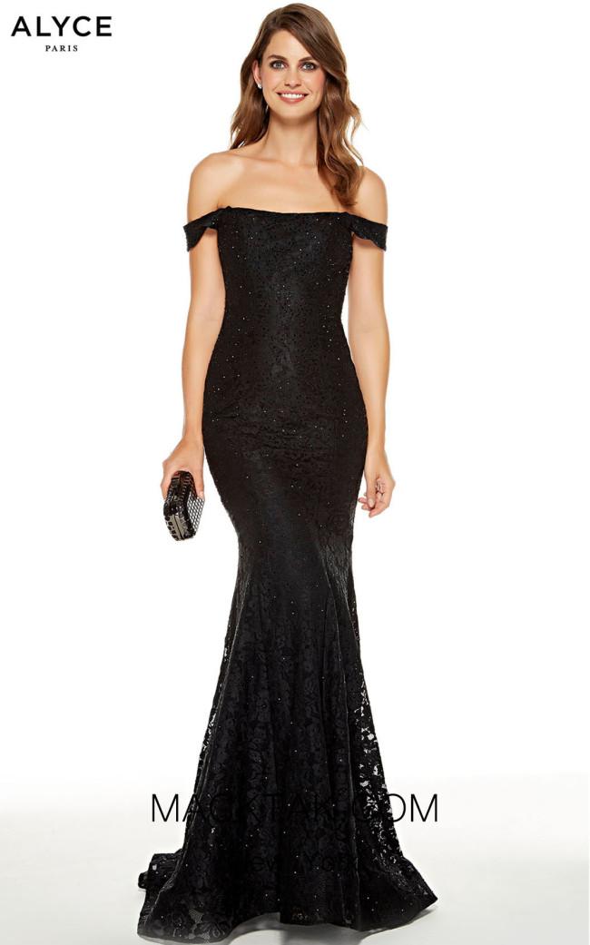 Alyce Paris 60652 Black Front Dress