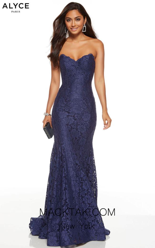 Alyce Paris 60653 Midnight Front Dress