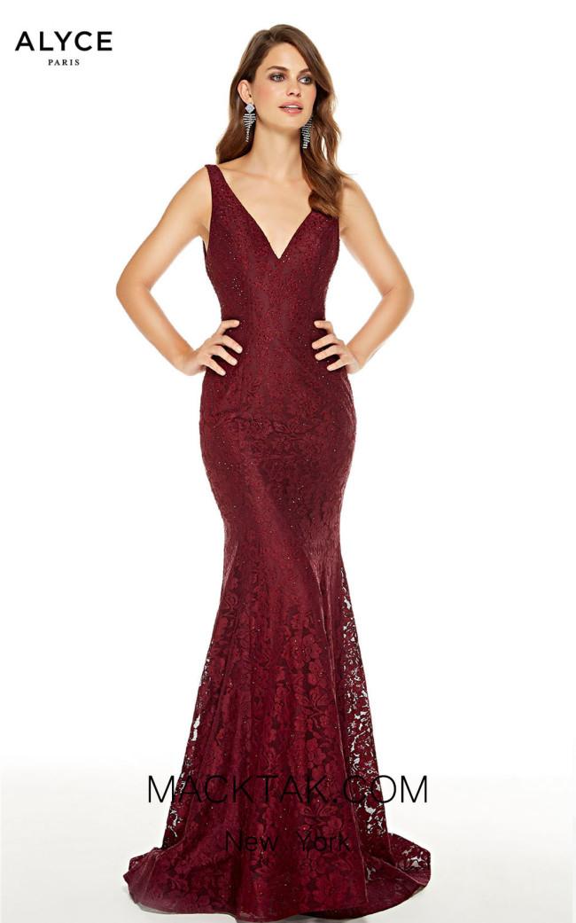 Alyce Paris 60654 Wine Front Dress