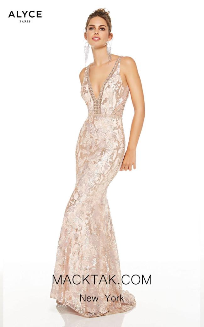 Alyce Paris 60657 Latte Chalk Front Dress