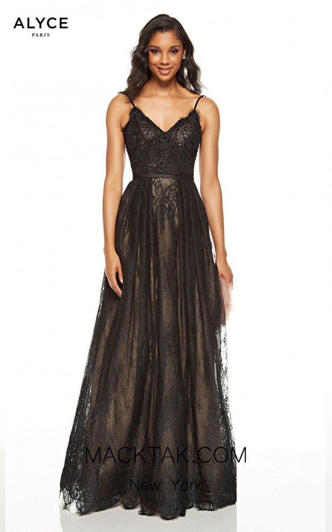 Alyce Paris 60660 Black Sand Front Dress
