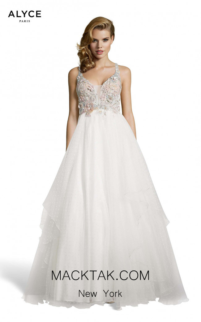 Alyce Paris 60667 Diamond White Front Dress