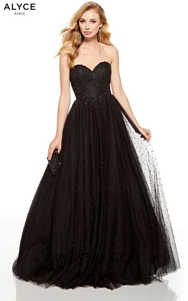 Alyce Paris 60669 Black Front Dress