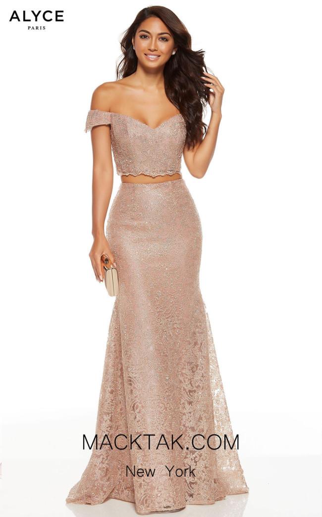 Alyce Paris 60671 Rose Gold Front Dress