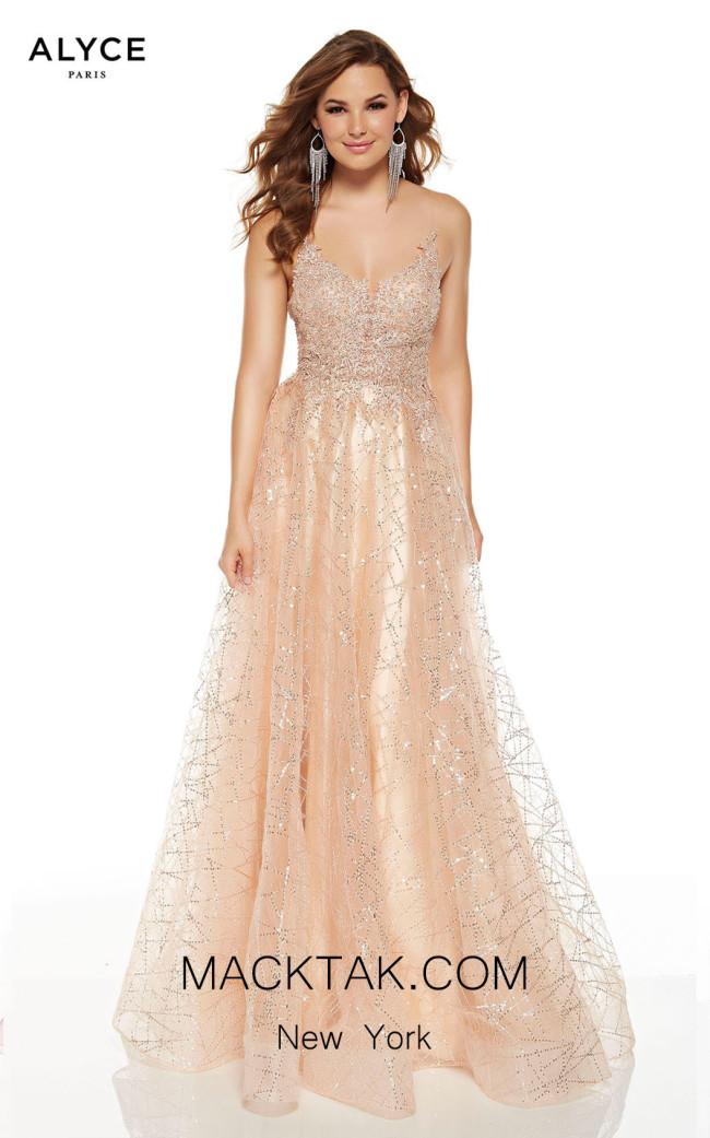 Alyce Paris 60683 Champagne Front Dress