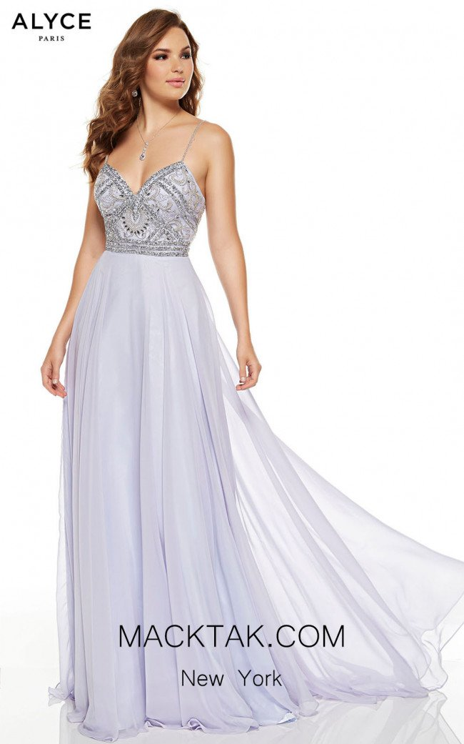 Alyce Paris 60689 Ice Lilac Front Dress