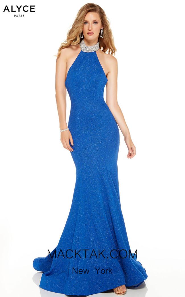 Alyce Paris 60691 Sapphire Front Dress