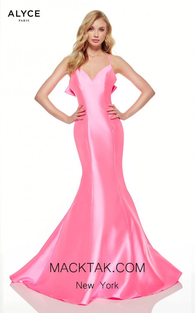 Alyce Paris 60705 Neon Pink Front Dress