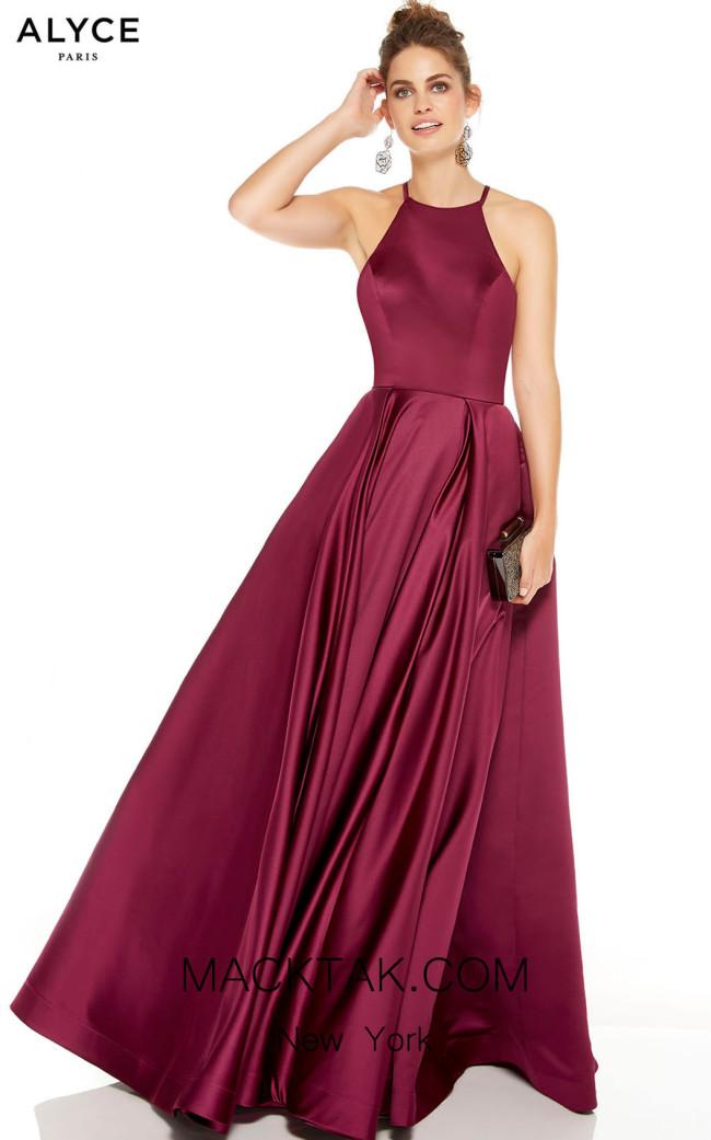 Alyce Paris 60715 Black Cherry Front Dress