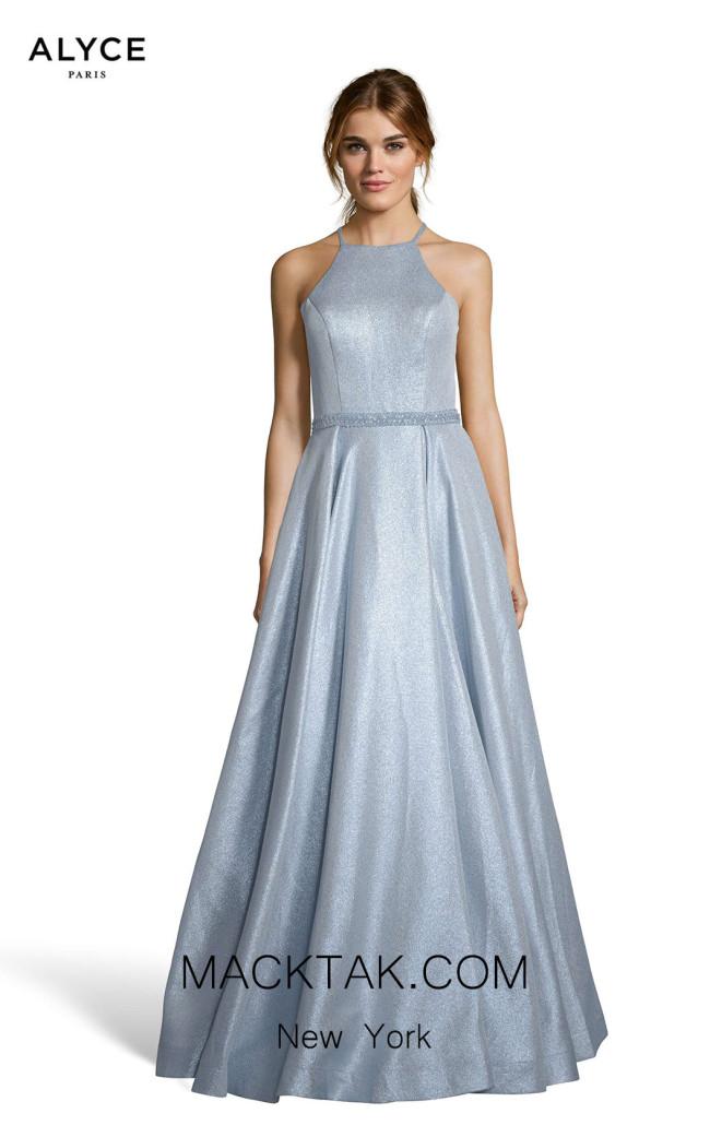 Alyce Paris 60717 Metallic Purple Front Dress