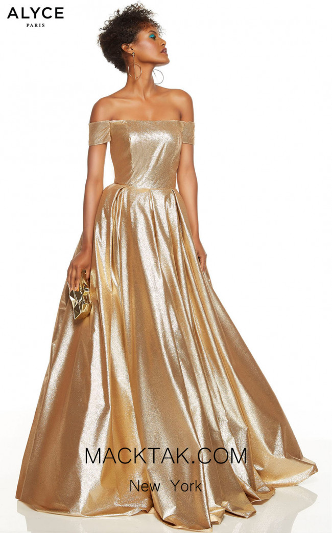 Alyce Paris 60723 Gold Front Dress