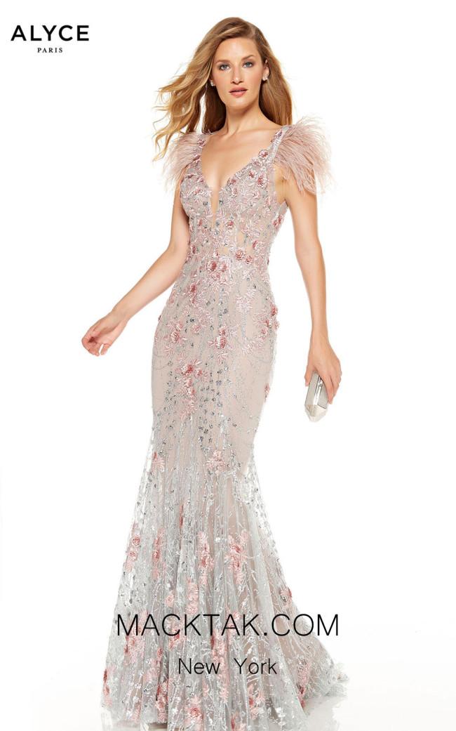 Alyce Paris 60738 Cashmere Rose Silver Front Dress