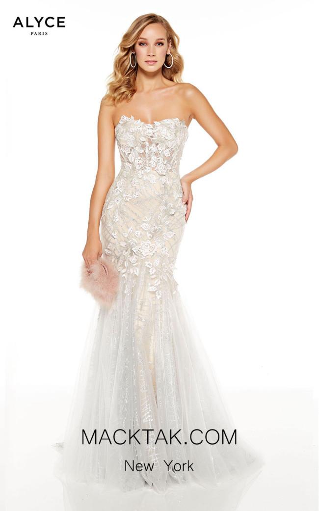 Alyce Paris 60742 Diamond White Sand Front Dress
