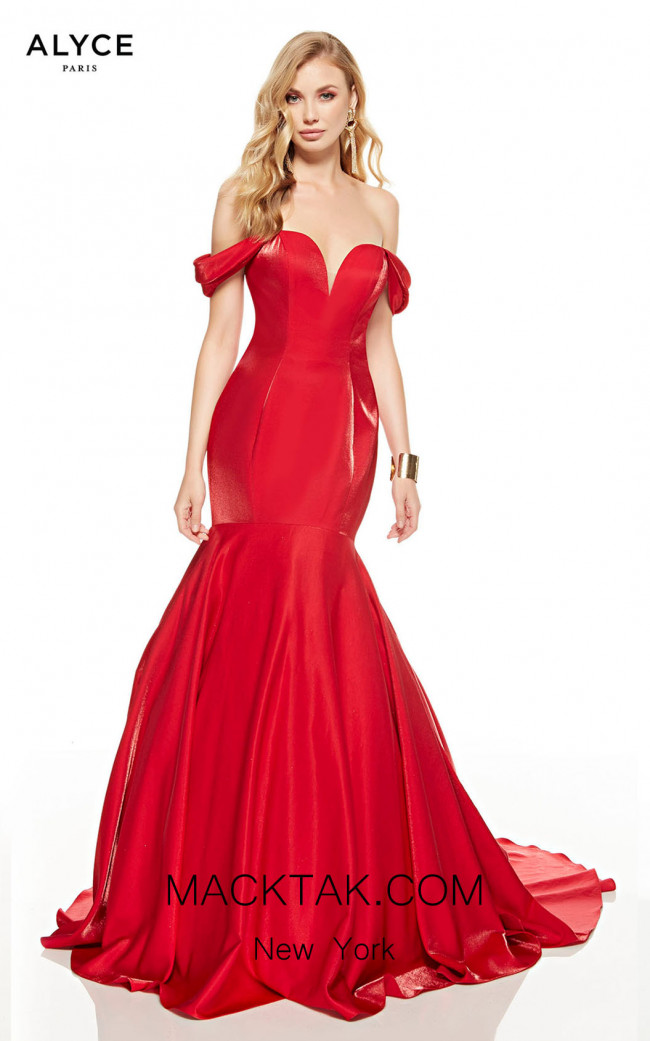 Alyce Paris 60748 Red Front Dress