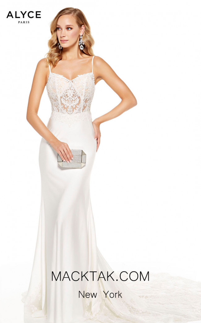 Alyce Paris 60762 Diamond White Front Dress